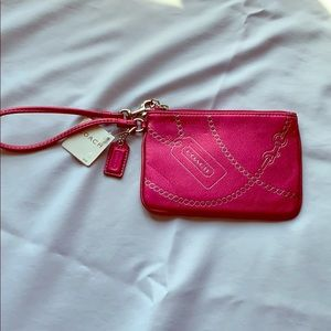 Coach Wristlet raspberry colored brand new